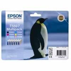 Epson Original T5597 Multipack (Black, Cyan, Magenta, Yellow, Light Cyan, Light Magenta)