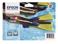 Epson Original T5846 Picturepack - Ink Cartridge + Paper