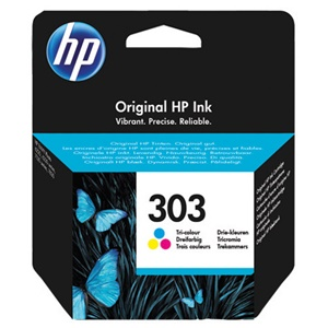 Original HP 303 Tri-Colour Inkjet Cartridge (T6N01AE)