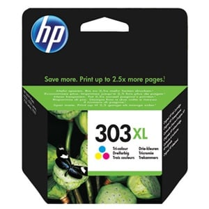 Original HP 303XL Tri-Colour High Capacity Inkjet Cartridge (T6N03AE)