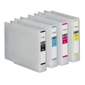 Compatible Epson T7551/T7552/T7553/T7554 Full Set of High Capacity Ink Cartridges (Black/Cyan/Magenta/Yellow)