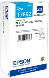Epson Original T7892XXL Cyan Extra High Capacity Ink Cartridge (C13T789240)