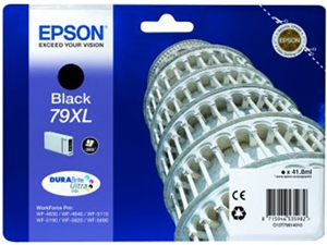 Epson Original 79XL Black High Capacity Ink Cartridge (C13T79014010)