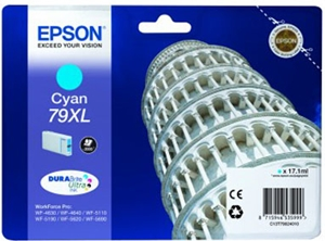 Epson Original 79XL Cyan High Capacity Ink Cartridge (C13T79024010)