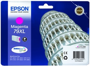 Epson Original 79XL Magenta High Capacity Ink Cartridge (C13T79034010)