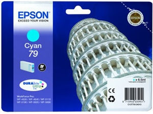 Epson Original 79 Cyan Ink Cartridge (C13T79124010)