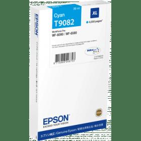 Original Epson T9082 Cyan High Capacity Inkjet Cartridge (C13T908240)