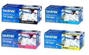 Brother Original TN135 Toner Cartridge Multipack (Black/Cyan/Magenta/Yellow)