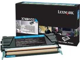 Lexmark Original X748H1CG Cyan High Capacity Toner Cartridge