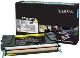 Lexmark Original X748H1YG Yellow High Capacity Toner Cartridge