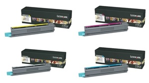 Original Lexmark X925H2 4 Colour Toner Cartridge Multipack (Black/Cyan/Magenta/Yellow)