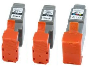 Canon 2 x BCI-24BK Black and 1 x BCI-24C Colour Compatible Ink Cartridges