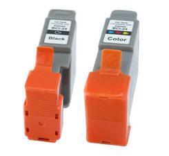Canon BCI-24BK Black and BCI-24C Colour Compatible Ink Cartridges