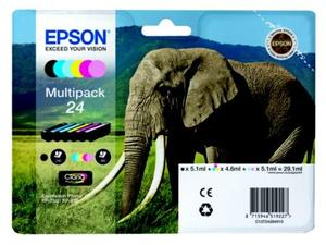 Epson Original T2428 (Series 24) Pack Of 6 (Black,Cyan,Magenta,Yellow,Light Cyan,Light Magenta)