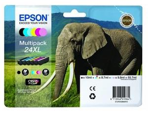 Epson Original T2438 (Series 24XL) Pack Of 6 (Black,Cyan,Magenta,Yellow,Light Cyan,Light Magenta)
