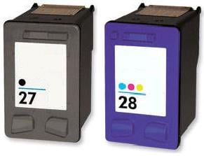 Remanufactured HP 27 Black and HP 28 Colour Ink Cartridges