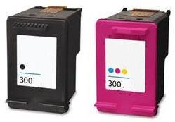 Remanufactured HP 300 Black (CC640EE) & 300 Colour (CC643EE) High Capacity Ink Cartridges