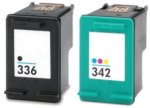 Remanufactured HP 336 Black (C9362EE) and HP 342 Colour (C9361EE) Ink Cartridges