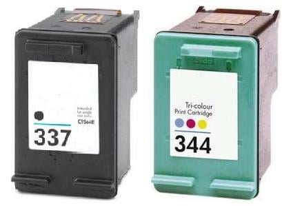 Remanufactured HP 337 (C9364EE) High Capacity Black and HP 344 (C9363EE) High Capacity Colour Ink Cartridges