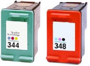Remanufactured HP 348 (C9369EE) High Capacity Photo and HP 344 (C9363EE) High Capacity Colour Ink Cartridges