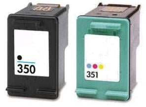 Remanufactured HP 350 (CB335EE) & 351 (CB337EE) Black & Colour High Capacity Cartridges