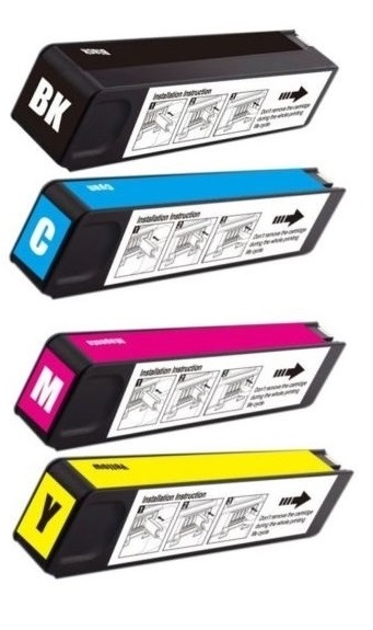 Compatible HP 981X Full Set Of 4 High Capacity Ink Cartridges Black/Cyan/Magenta/Yellow