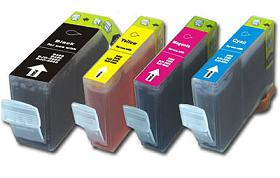 Canon BCI-3 Compatible Cartridges Set of 4 (Black/Cyan/Magenta/Yellow)