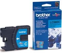 Original Brother LC980C Cyan Inkjet Cartridge
