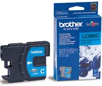 Original Brother LC1100C Cyan Inkjet Cartridge