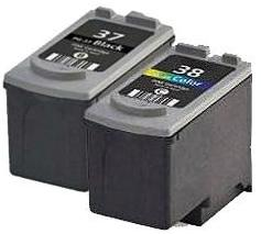 Canon PG-37 and CL-38 Black and Colour Remanufactured Ink Cartridges