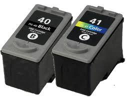 Canon PG-40 Black and CL-41 Colour Remanufactured Ink Cartridges