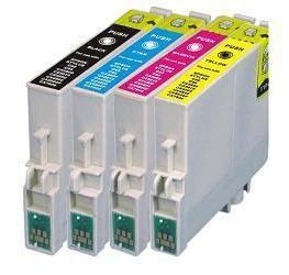 Compatible Epson T0551/T0552/T0553/T0554 Cartridges Full Set