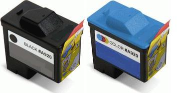 Dell T0529 High Capacity Black and T0530 High Capacity Colour Remanufactured Ink Cartridges (Series 1)