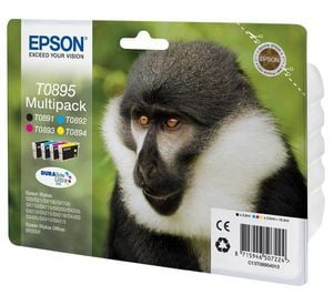 Epson Original T0895 Ink Cartridge Multipack. Contains Black/Cyan/Magenta/Yellow