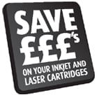 Save £££ on your inkjet and Laser Cartridges
